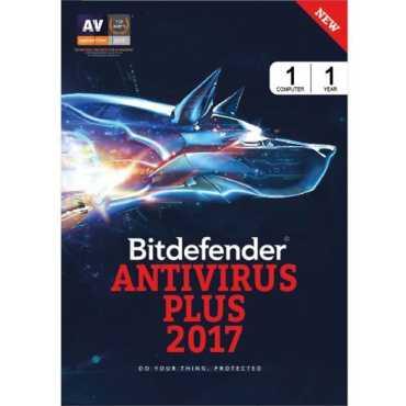 Bitdefender Antivirus Plus 2017 1 PC 1 Year Antivirus