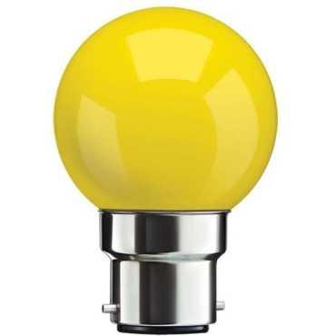 Syska 0.5 W B22 LED Bulb (Yellow) - Yellow