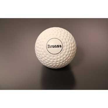 Rakshak Dimple Bronze Turf Hockey Ball (Pack of 6) - White