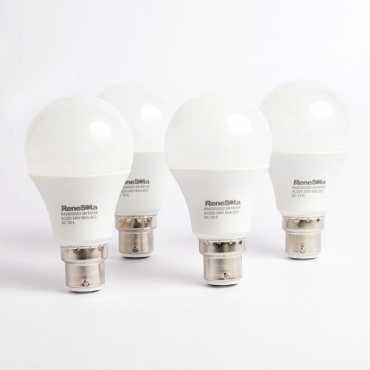 ReneSola 5W B22 LED Bulb (White, Set of 4) - White