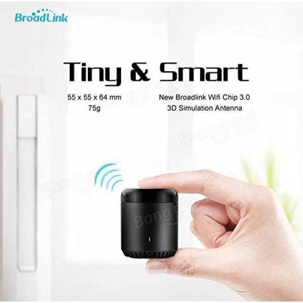 Broadlink Black Bean Smart Home Wifi Remote IR Controller - Black