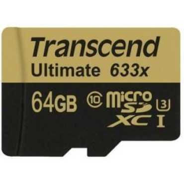 Transcend Ultimate TS64GUSDU3 64GB Class 10 MicroSDXC Memory Card