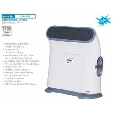 Orpat OCH-1400 2500W Room Heater - White | Black