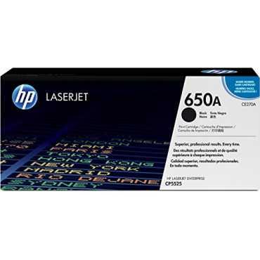 HP 650A Black LaserJet Toner Cartridge - Black