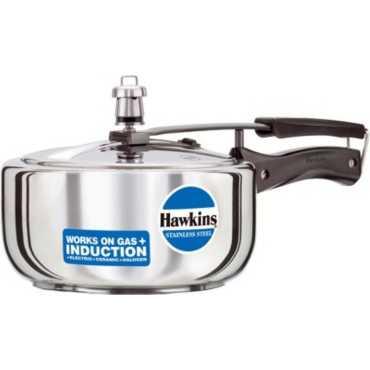Hawkins Stainless Steel B60 3 L Pressure Cooker (Inner Lid)  - Steel